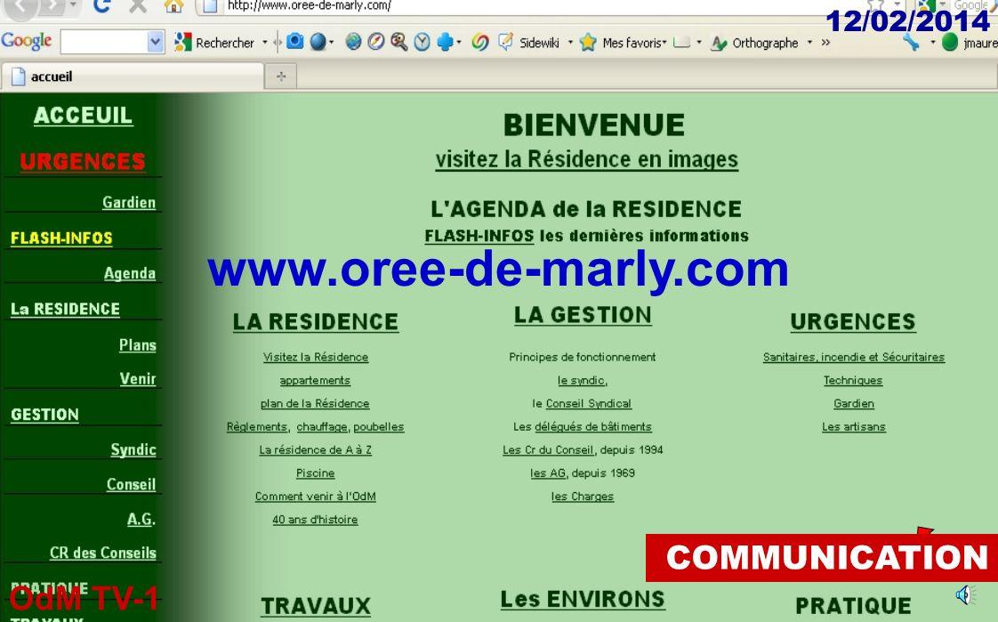 OdM TV-1 12/02/2014 COMMUNICATION communication@oree-de-marly.com