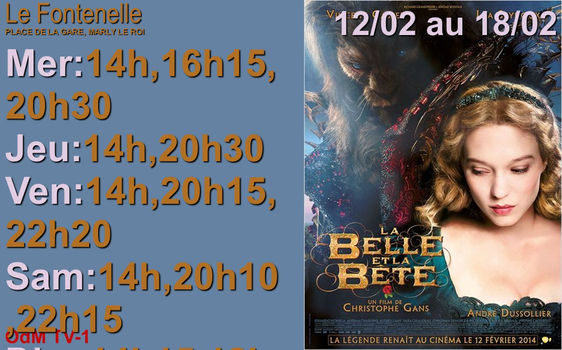 OdM TV-1 12/02/2014 Pour des raisons techniques le cinéma Le Fontenelle na pu nous transmettre les programmes de la semaine ils sont disponibles sur :