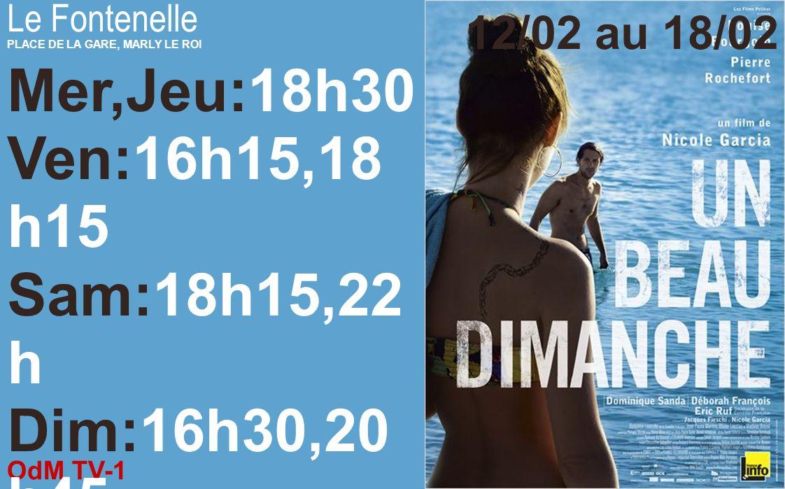 OdM TV-1 12/02/2014 Le Fontenelle PLACE DE LA GARE, MARLY LE ROI 12/02 au 18/02 Mer:14h,20h45 Jeu:16h15,18h1 5,20h45 Ven:16h30,20h1 5 Sam:16h15,18h, 2