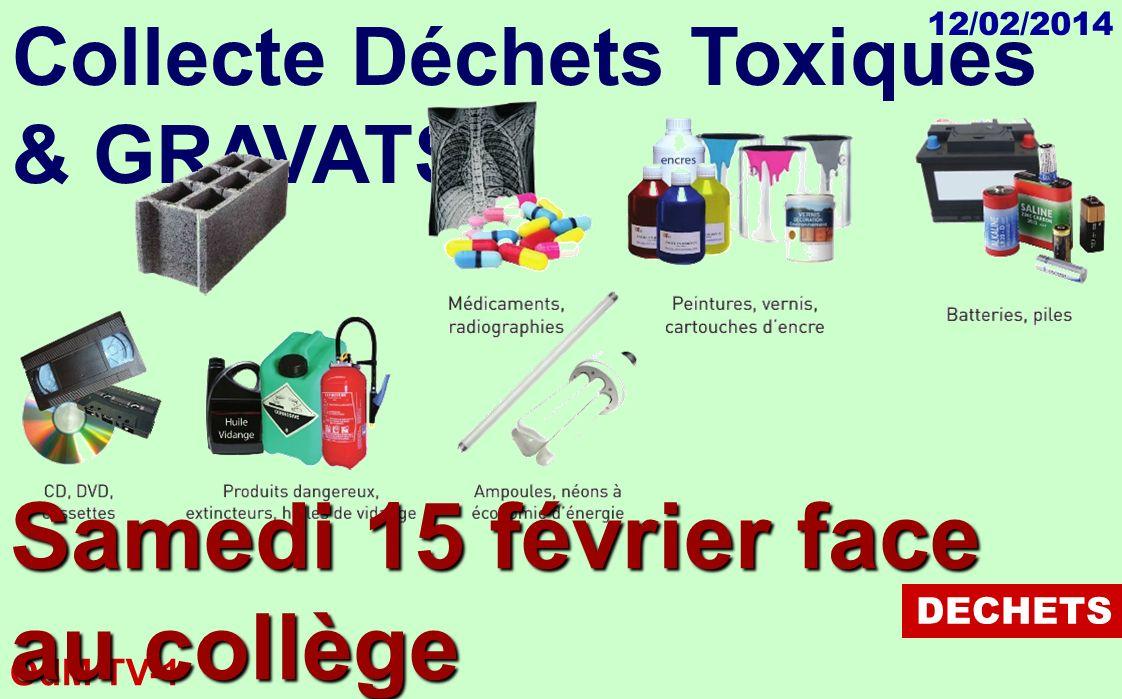 OdM TV-1 12/02/2014 Collecte Déchets Toxiques & GRAVATS DECHETS Samedi 15 février face au collège de 9 à 13h