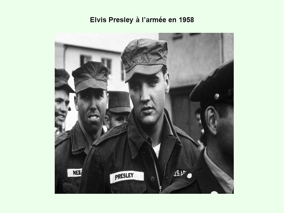 Elvis Presley à larmée en 1958