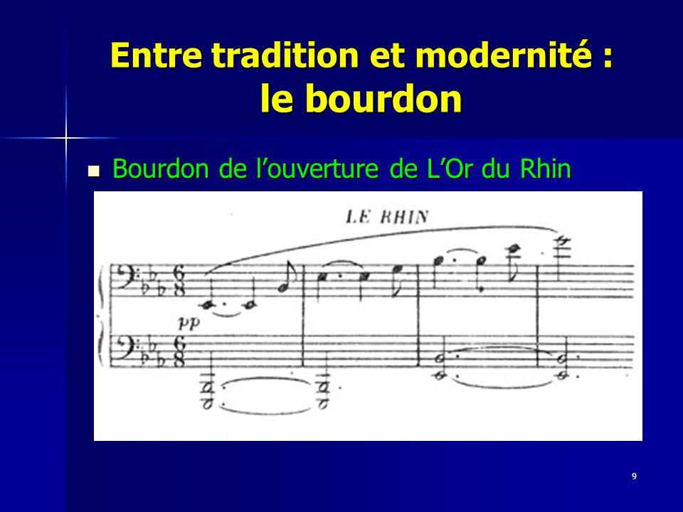 9 Entre tradition et modernité : le bourdon Bourdon de louverture de LOr du Rhin Bourdon de louverture de LOr du Rhin