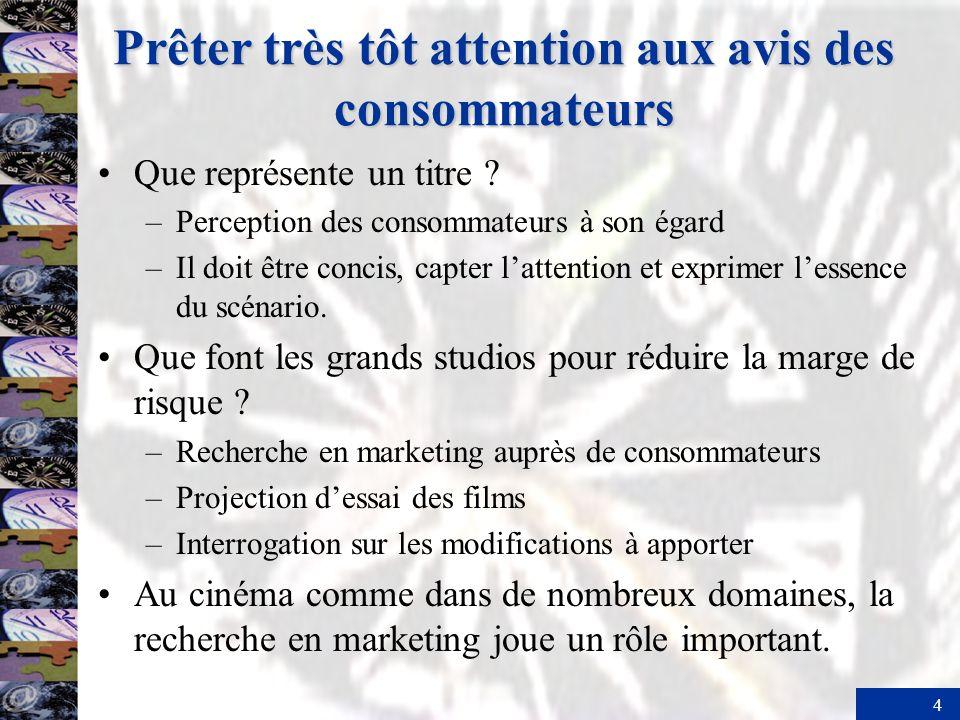 4 Prêter très tôt attention aux avis des consommateurs Que représente un titre .