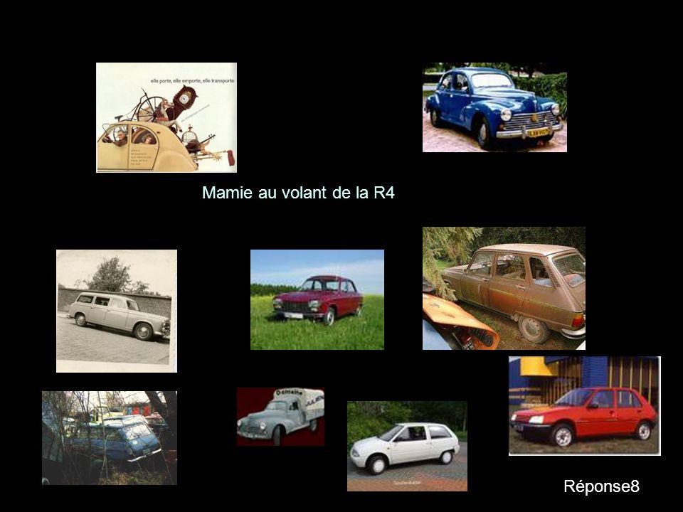 Question8 Une voiture qui roule sans chauffeur, cest: - Une automatique - Mamie au volant de la R4 - Un ovni