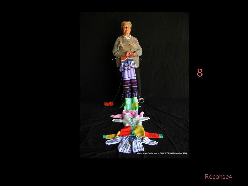Question4 Soyez attentifs, regardez bien cette photo qui va disparaître … On va poser une question la concernant… Combien de bouts de Tricots sont ass