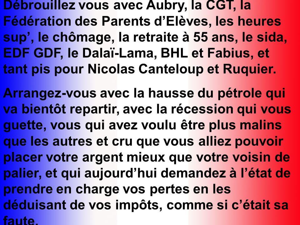 Fini, les grèves de la SNCF et de la RATP, déclenchées pour une minute de travail en plus, payée double qui plus est, mais dont les salariés voyagent gratuitement sur toutes les lignes à longueur dannée et de vacances.
