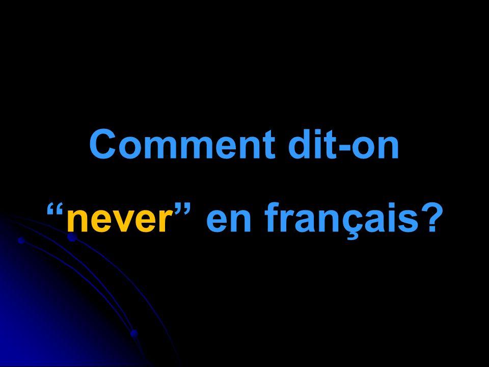 Comment dit-onnever en français