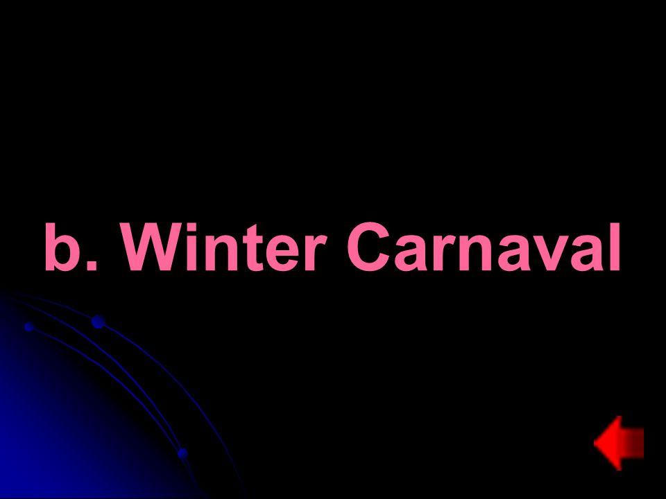 b. Winter Carnaval