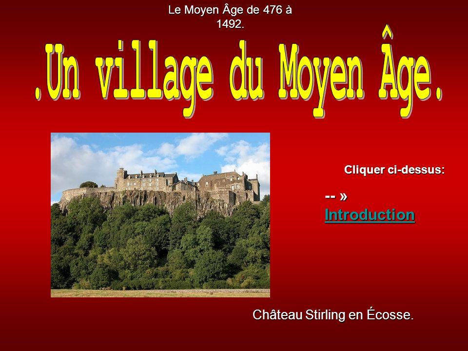Château Stirling en Écosse.Le Moyen Âge de 476 à 1492.