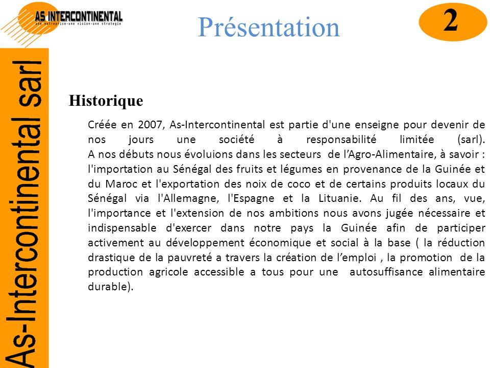 Présentation Historique Créée en 2007, As-Intercontinental est partie d'une enseigne pour devenir de nos jours une société à responsabilité limitée (s
