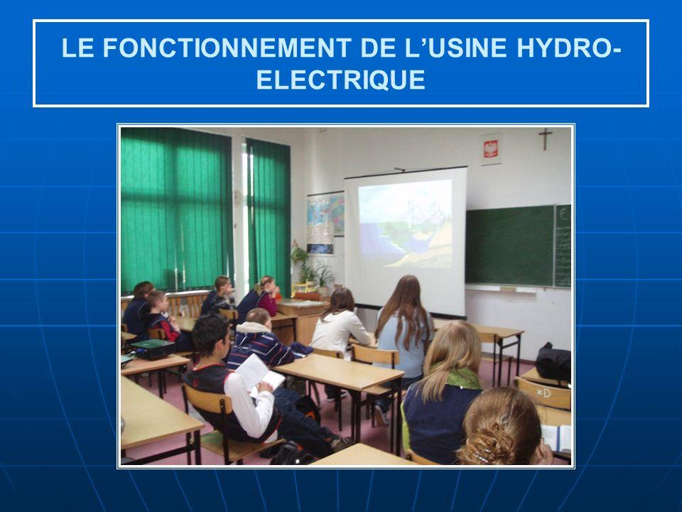 LE FONCTIONNEMENT DE LUSINE HYDRO- ELECTRIQUE