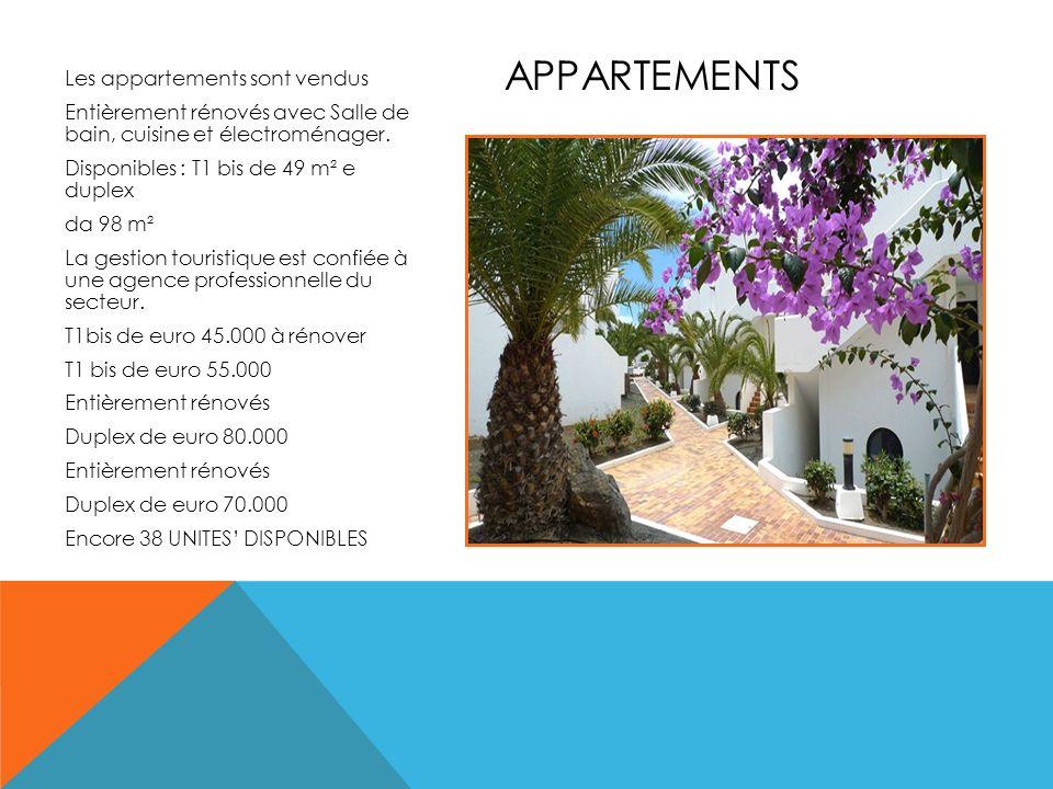 Les appartements sont vendus Entièrement rénovés avec Salle de bain, cuisine et électroménager. Disponibles : T1 bis de 49 m² e duplex da 98 m² La ges