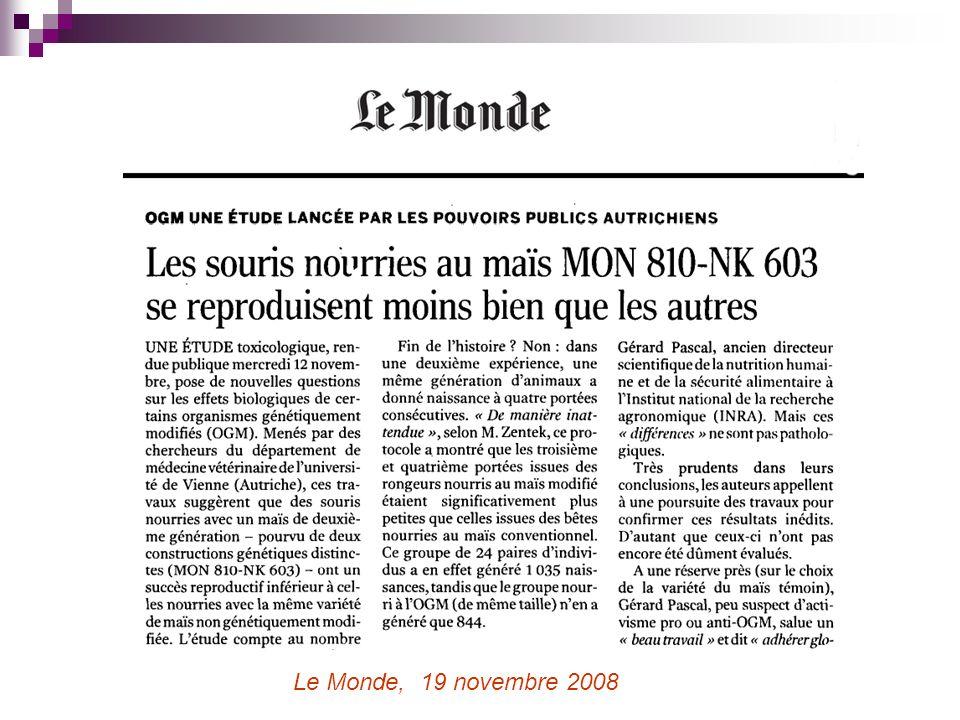 Le Monde, 19 novembre 2008