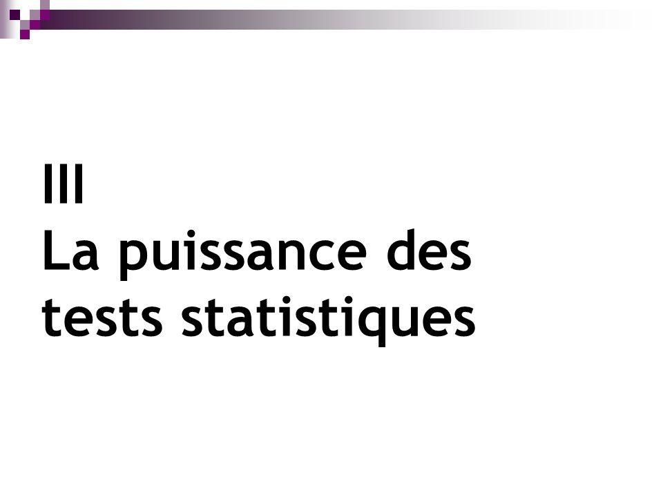 III La puissance des tests statistiques