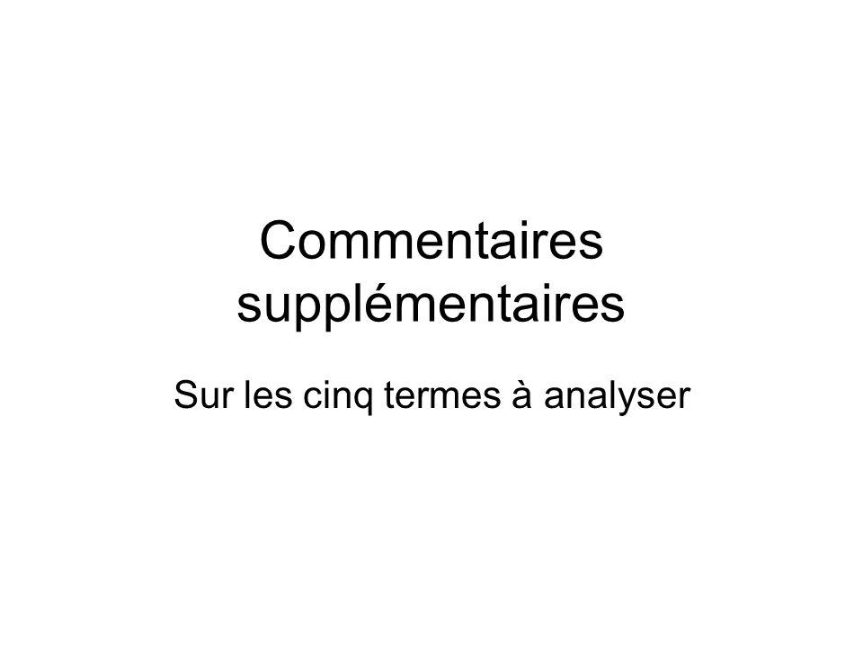 Non compositionnalité M-Cl.