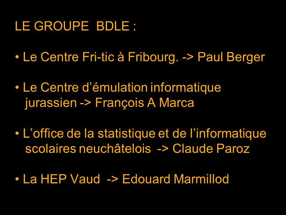 LE GROUPE BDLE : Le Centre Fri-tic à Fribourg.