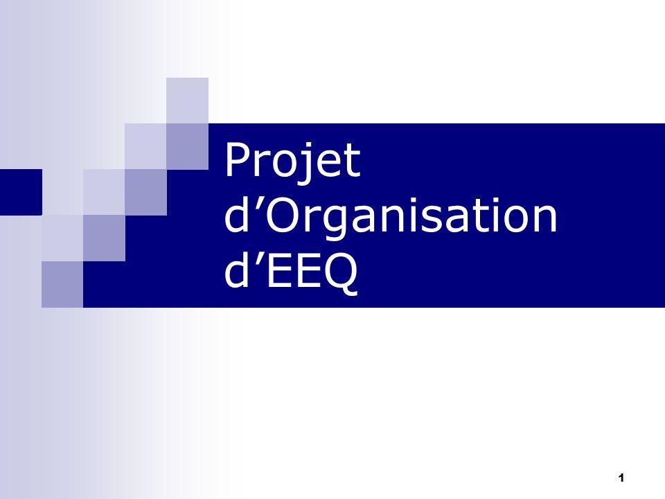 1 Projet dOrganisation dEEQ