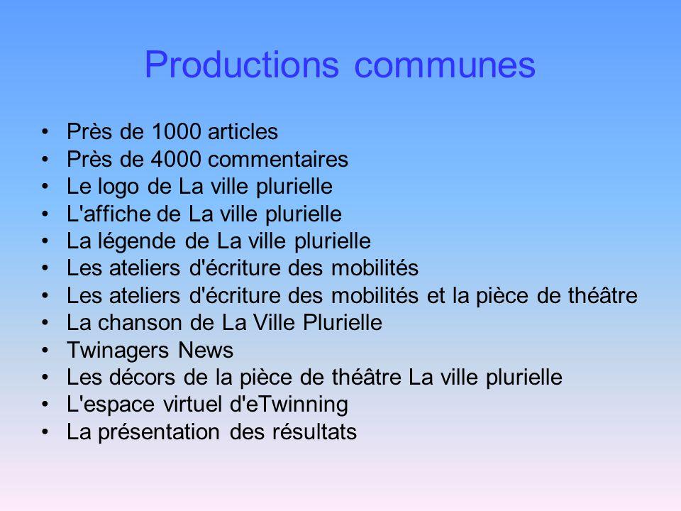 Productions communes Près de 1000 articles Près de 4000 commentaires Le logo de La ville plurielle L'affiche de La ville plurielle La légende de La vi