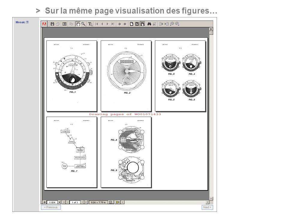 PROFESSIONAL ONLINE PATENT INFORMATION SERVICE > Sur la même page visualisation des figures…