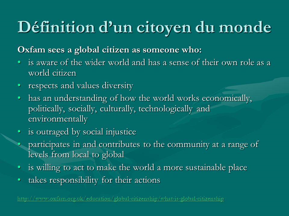 7.Pensez-vous être un meilleur citoyen du monde maintenant quavant ce projet.