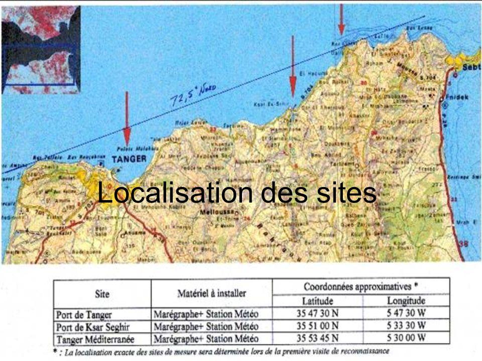 Localisation des sites