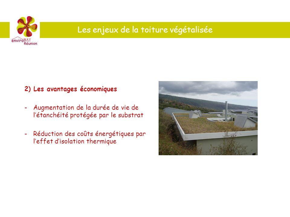 2) Les avantages économiques -Augmentation de la durée de vie de létanchéité protégée par le substrat - Réduction des coûts énergétiques par leffet di