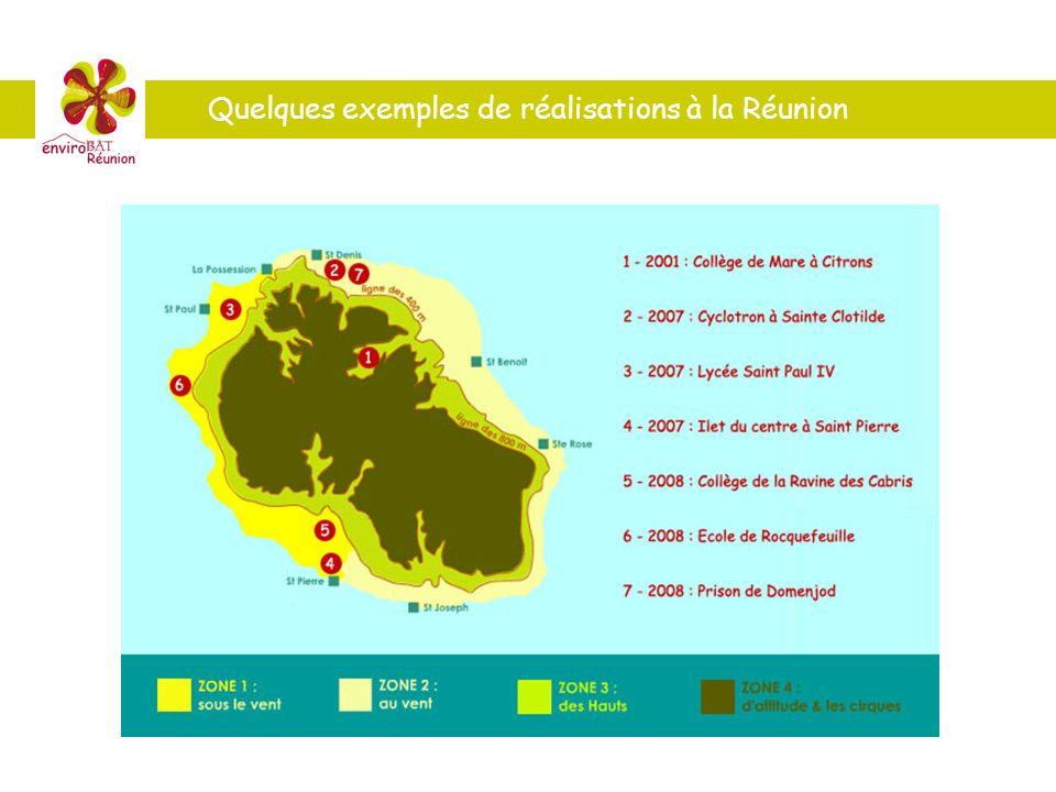 Quelques exemples de réalisations à la Réunion