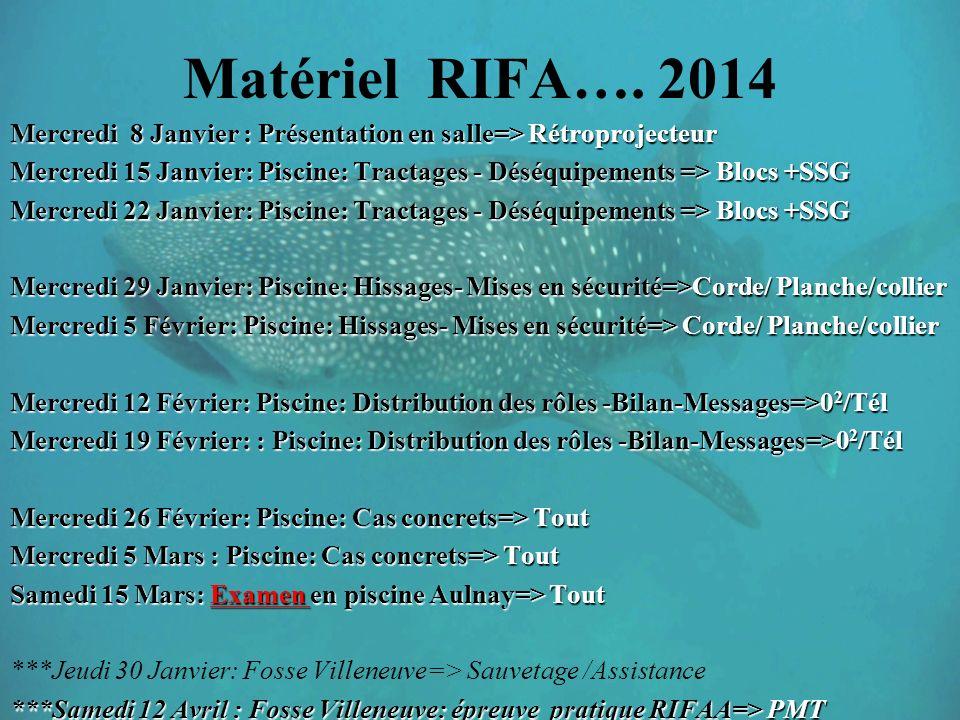 Matériel RIFA….