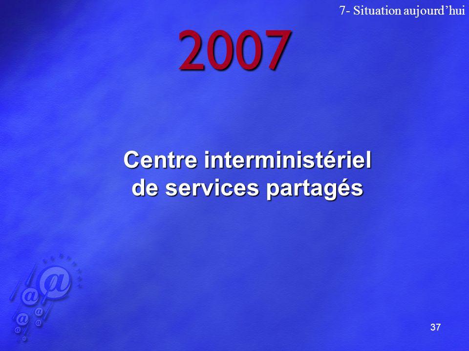 37 2007 7- Situation aujourdhui Centre interministériel de services partagés