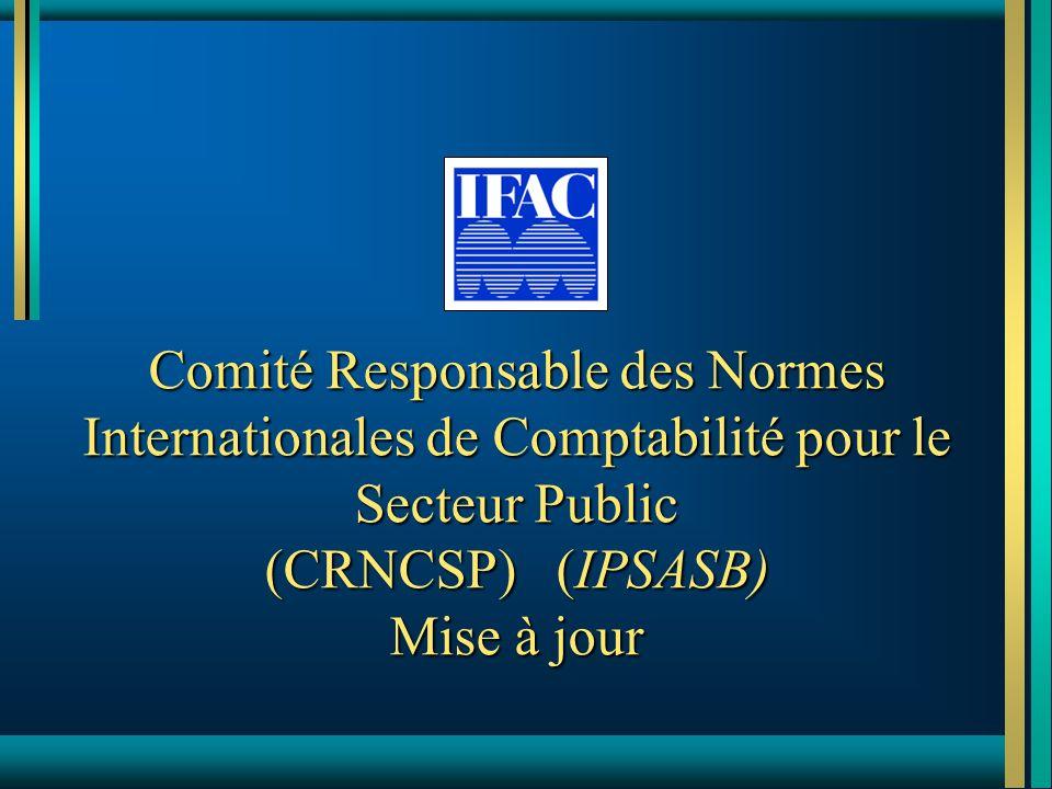 Comité Responsable des Normes Internationales de Comptabilité pour le Secteur Public (CRNCSP) (IPSASB) Mise à jour