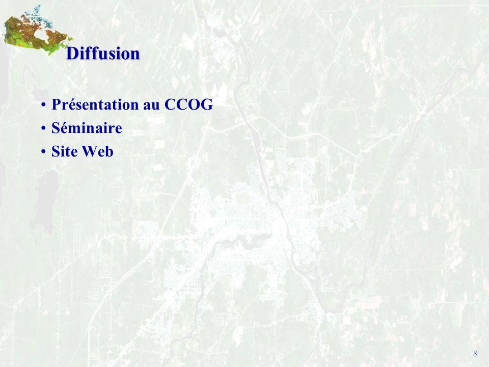 8 Diffusion Présentation au CCOG Séminaire Site Web