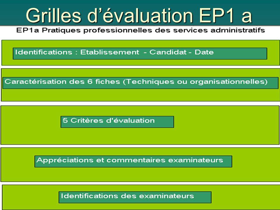Grilles dévaluation EP1 a
