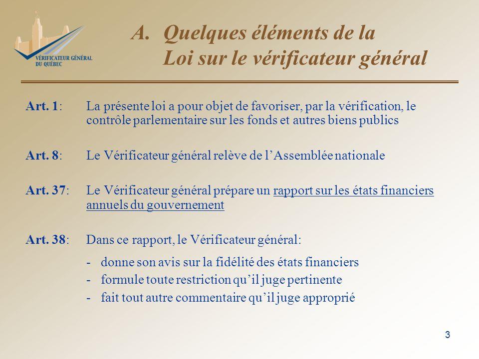 4 A.Quelques éléments de la Loi (suite) Art.