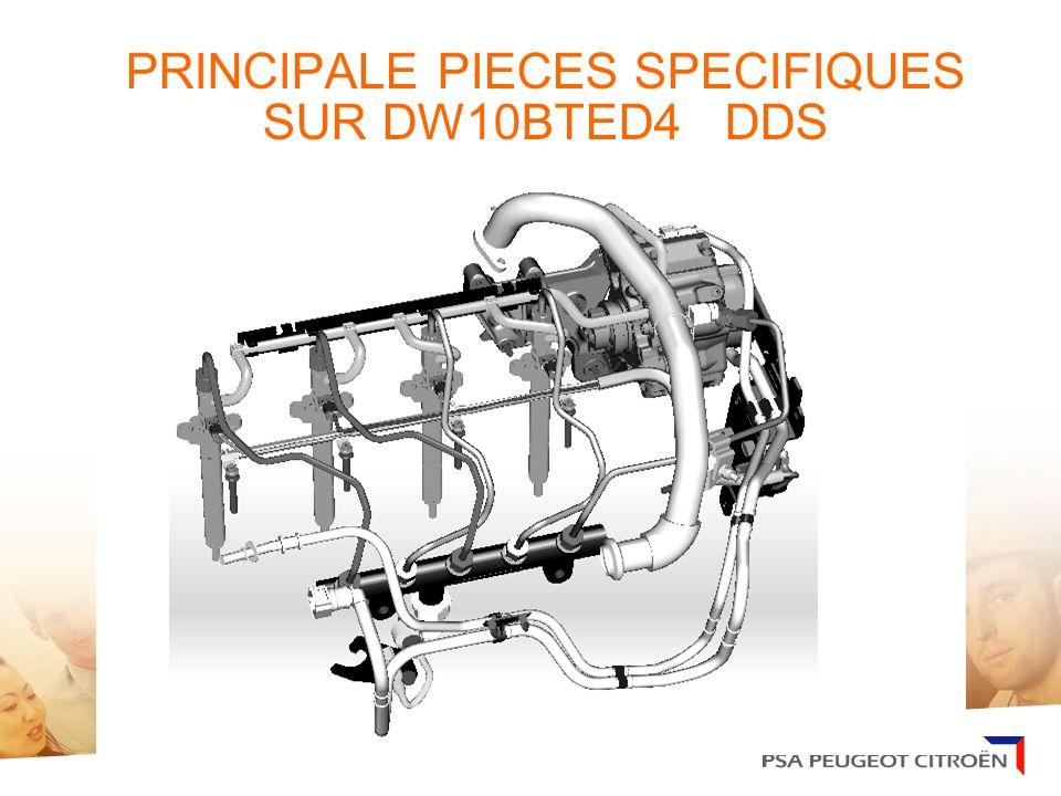AMMT/ICRT/PLM 23/01/06. PRINCIPALE PIECES SPECIFIQUES SUR DW10BTED4 DDS