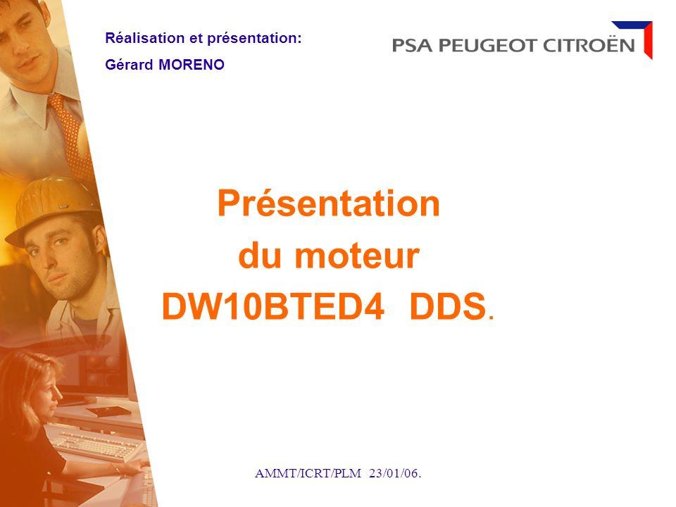 AMMT/ICRT/PLM 23/01/06. Présentation du moteur DW10BTED4 DDS. Réalisation et présentation: Gérard MORENO