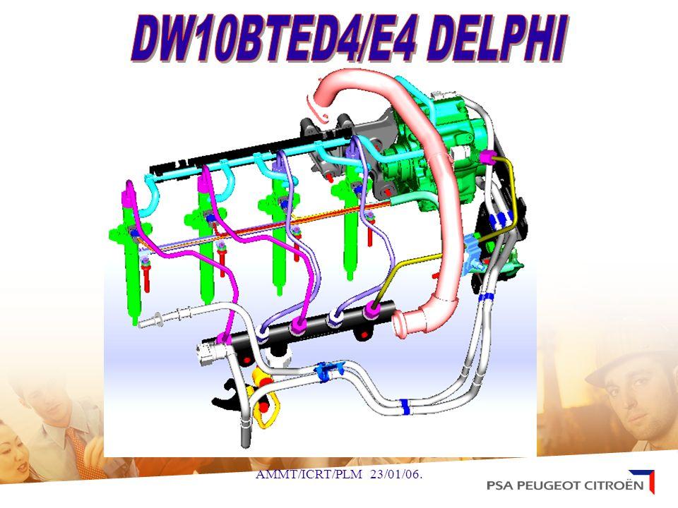 DW10BTED4/E4 DELPHI VERSION :D2/B5/T6/T7/X7 PRS HL : 25/04/2005 PRS EL1 : 17/11/2005 PRS EL 2 : 09/01/2006 EMS PREVISIONNEL : 06/03/2006 FAMILLE MOTEUR OCM N° :DWL20 OXMM0515A REFERENCE : 96 597 798 80 N° DE MEDAILLE : 10DYUK TYPE REGLEMENTAIRE : RHR T6 Restyling 307 D2 monté sur 407 T7 Remplacente 307 B5 monté sur C4 X7 Remplacente C5