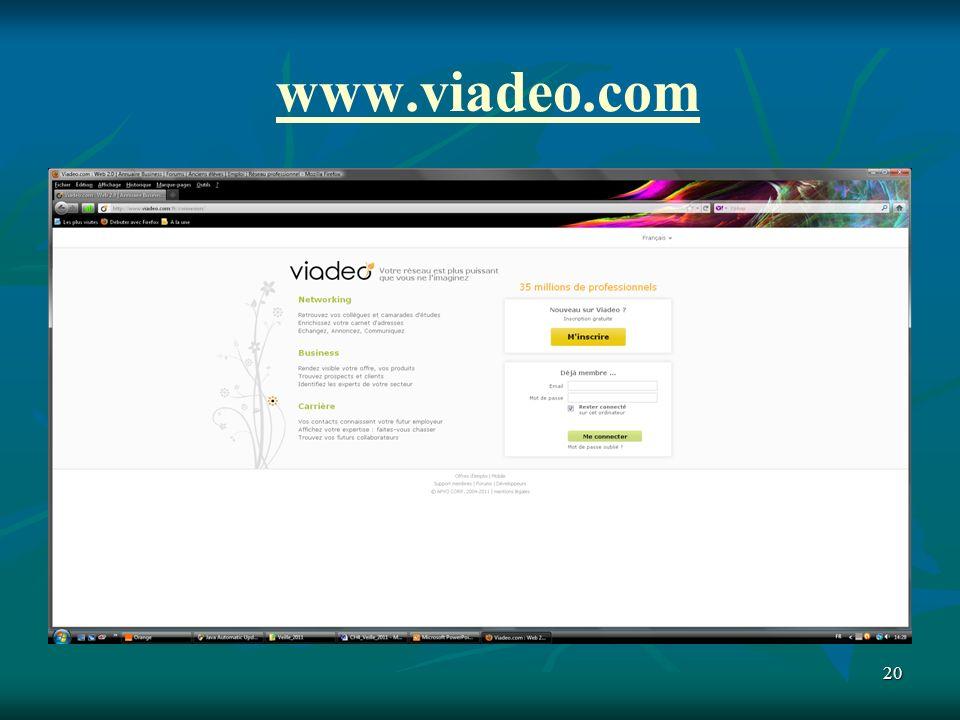 20 www.viadeo.com