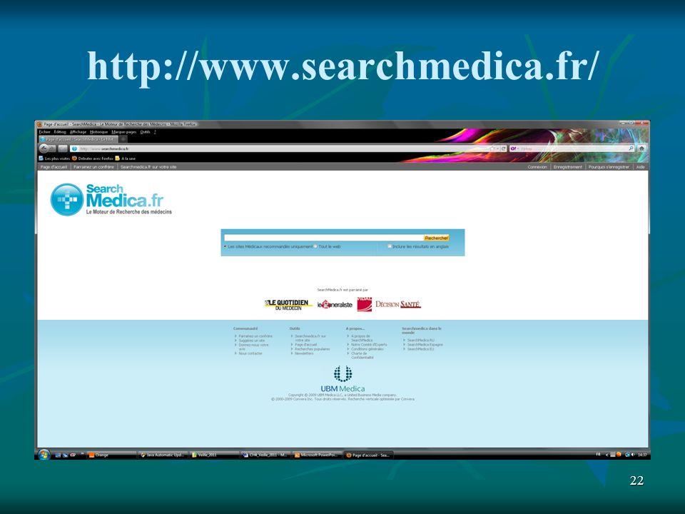 22 http://www.searchmedica.fr/
