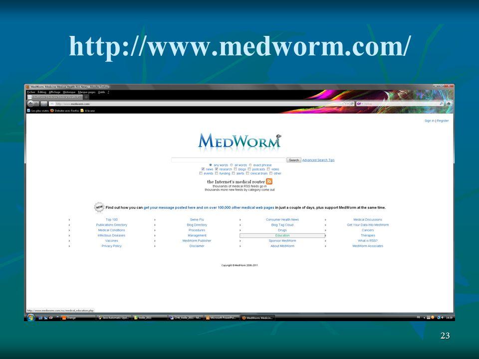 23 http://www.medworm.com/