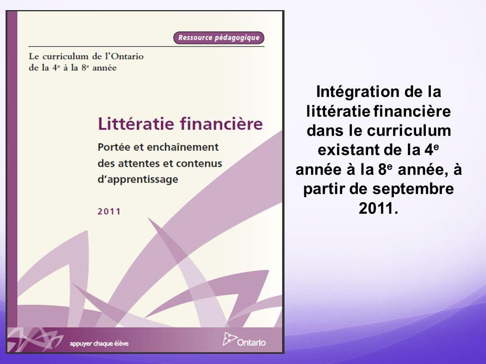 Stratégie de mise en œuvre Comment avez-vous ou comment pourriez-vous faire avancer la mise en œuvre de la littératie financière.