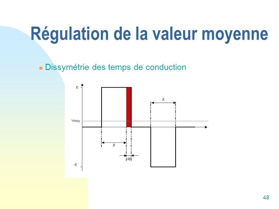 48 Régulation de la valeur moyenne Dissymétrie des temps de conduction