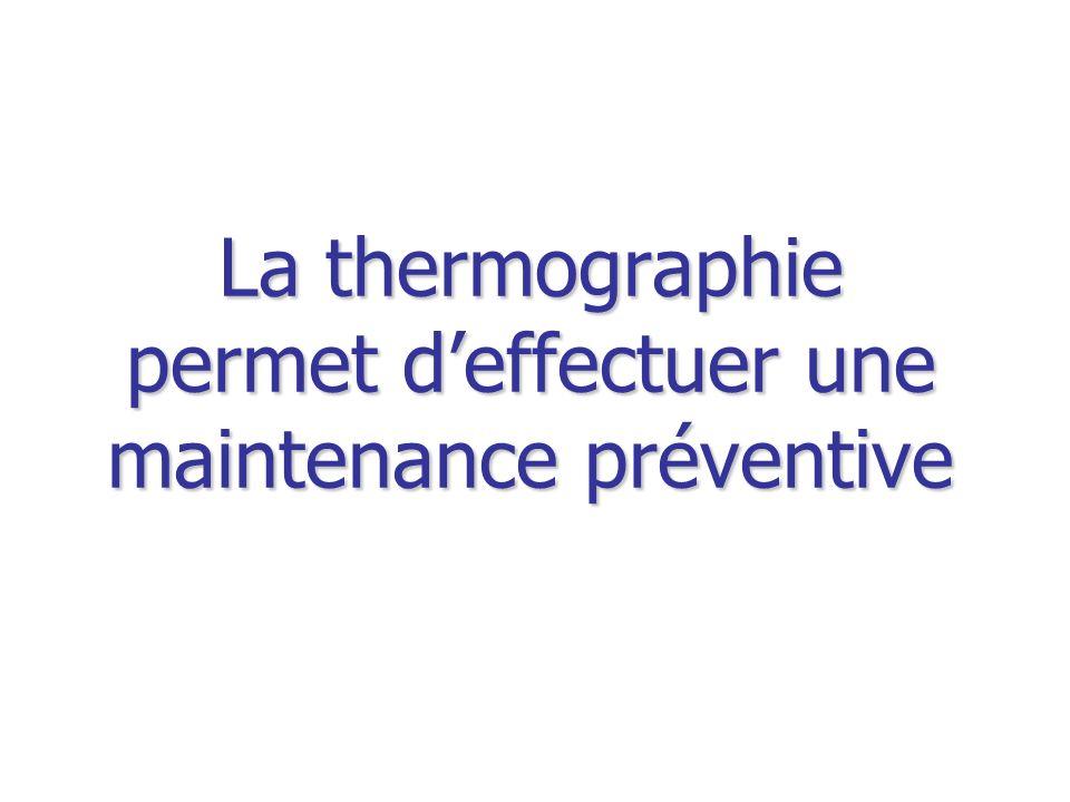 La thermographie permet deffectuer une maintenance préventive