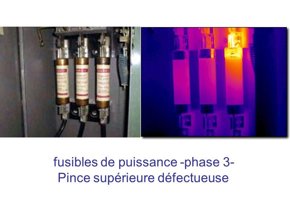 fusibles de puissance -phase 3- Pince supérieure défectueuse