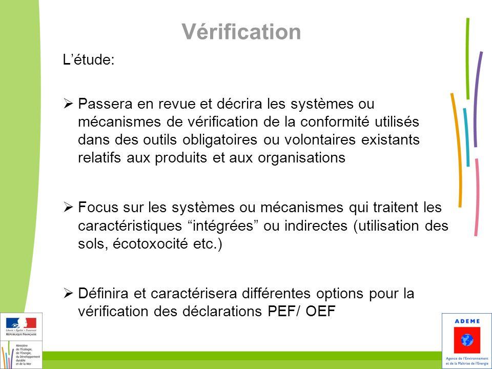 8 Vérification Létude: Passera en revue et décrira les systèmes ou mécanismes de vérification de la conformité utilisés dans des outils obligatoires o