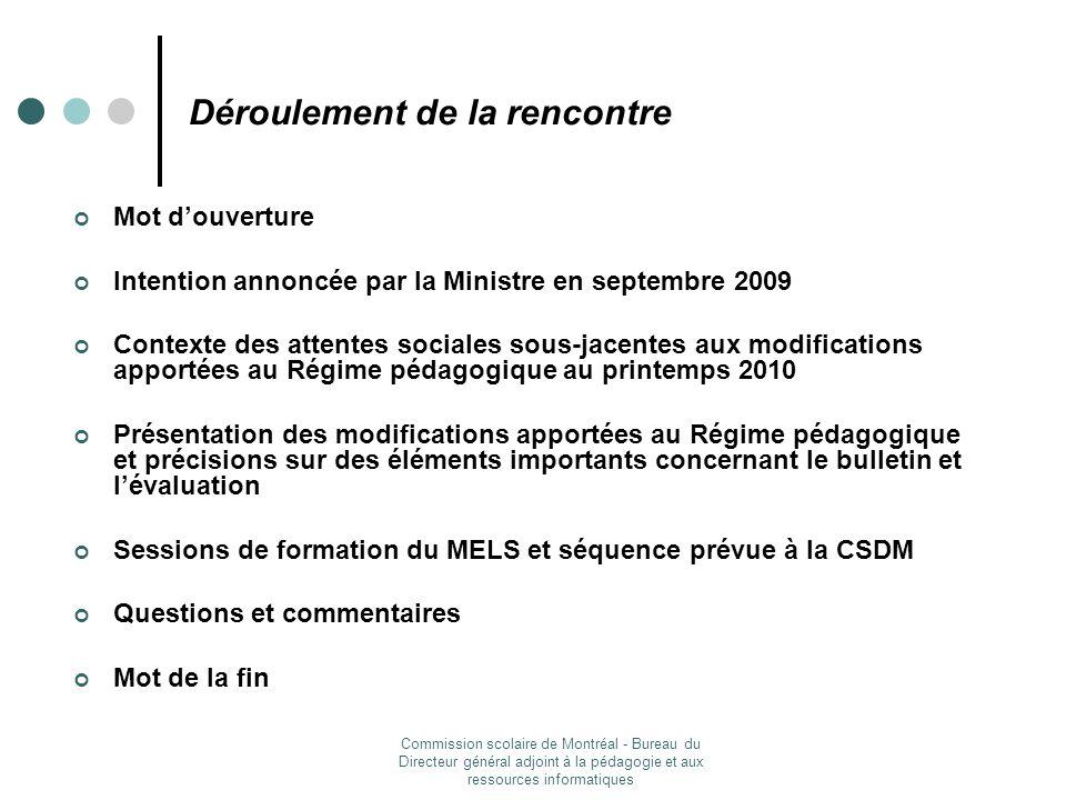 Commission scolaire de Montréal - Bureau du Directeur général adjoint à la pédagogie et aux ressources informatiques Septembre 2009: Lécole, jy tiens.