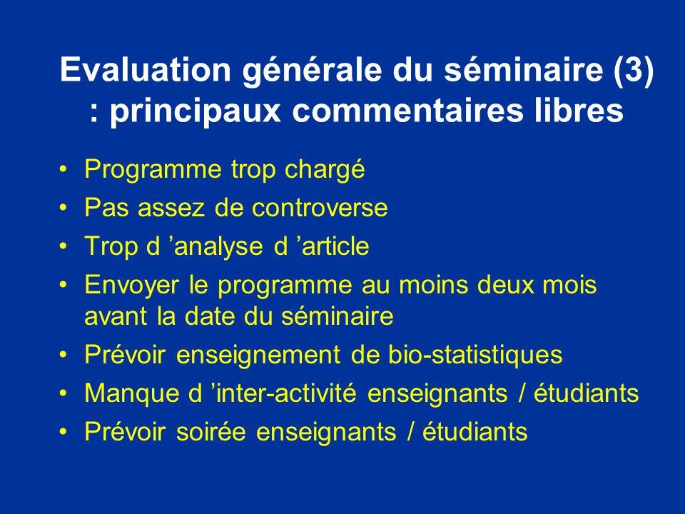 Evaluation des étudiants (3) bibliographie