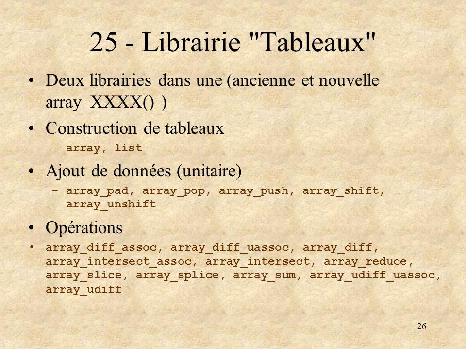 26 25 - Librairie