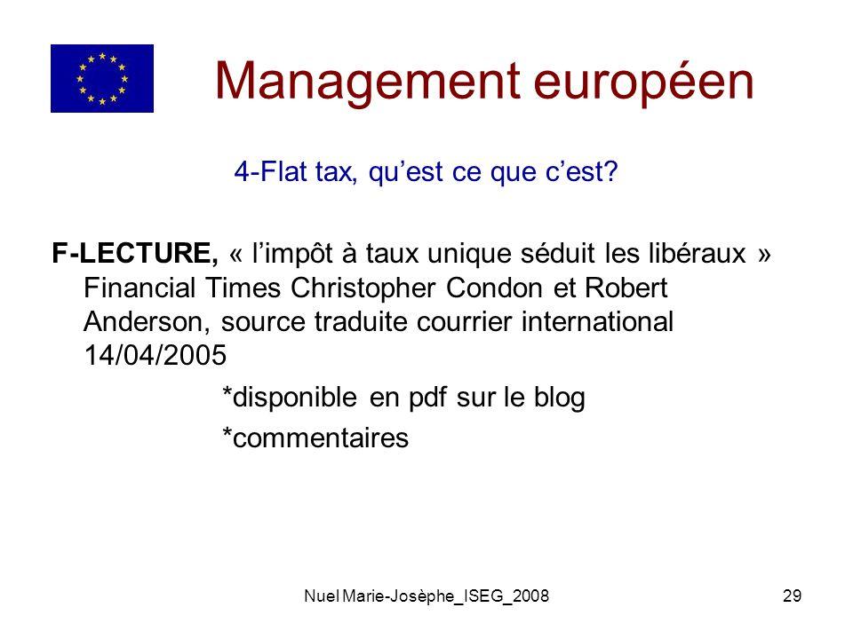 Nuel Marie-Josèphe_ISEG_200829 Management européen 4-Flat tax, quest ce que cest.