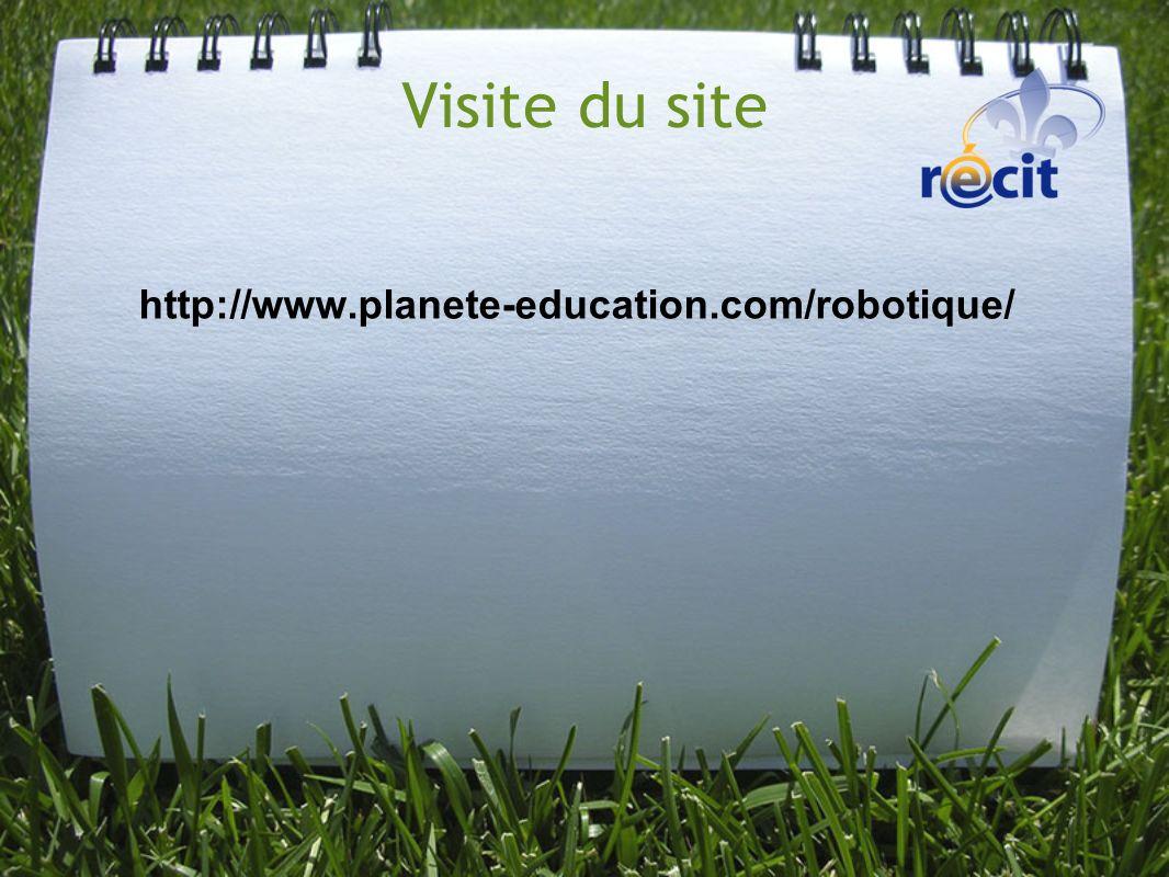Visite du site http://www.planete-education.com/robotique/