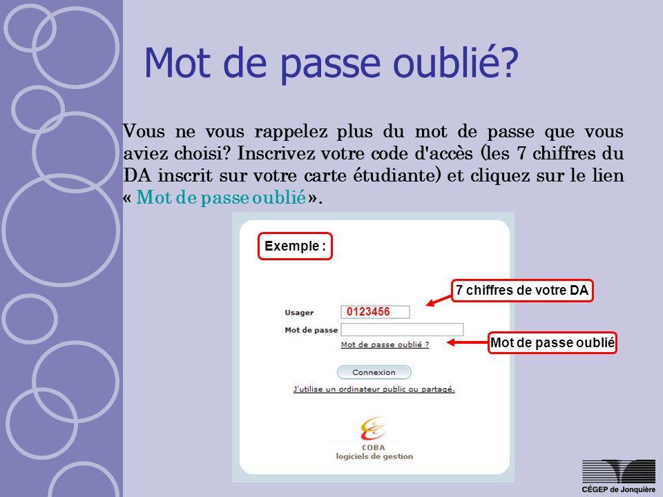 Menu : Dossier personnel Cliquez sur longlet «Dossier personnel » dans le menu « Mon dossier ».